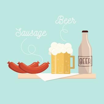 Ilustración de comida alemana
