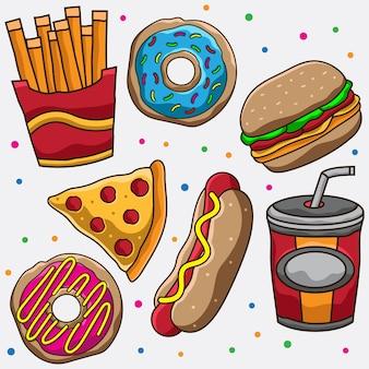 Ilustración de comida chatarra
