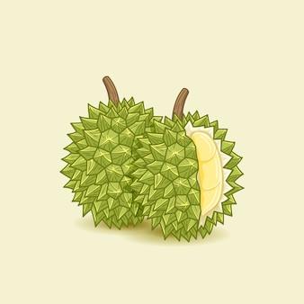 Ilustración de la comida durian