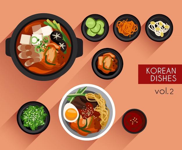 Ilustración de comida ilustración de vector de comida coreana
