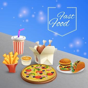 Ilustración de comida rápida