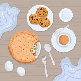 Ilustración de comida reconfortante de galletas