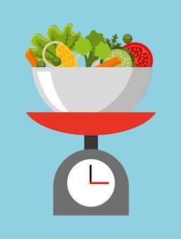Ilustración de comida sana