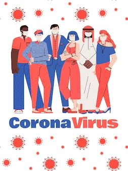 Ilustración de cómo protegerse de una peligrosa infección por coronavirus.