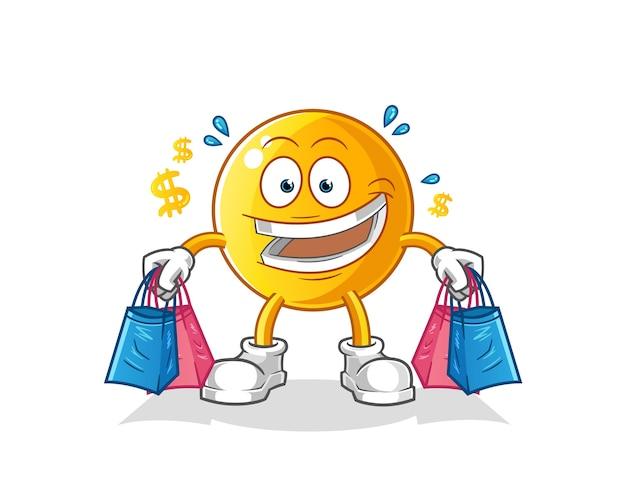 Ilustración de compras de emoticonos
