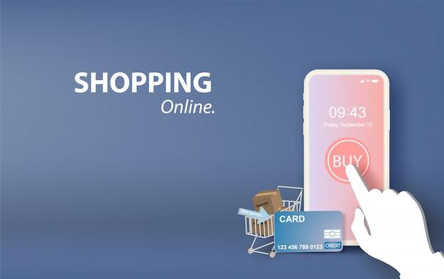 Ilustración de las compras en línea vector concepto.