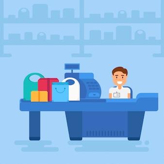 Ilustración de compras