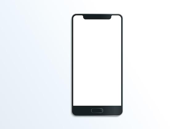 Ilustración de comunicación móvil de maqueta de vector realista de teléfono inteligente sobre fondo blanco