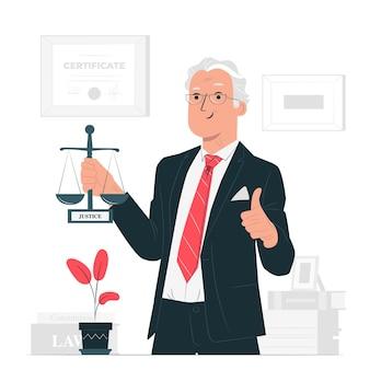 Ilustración del concepto de abogado