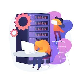 Ilustración de concepto abstracto de almacenamiento de datos grandes