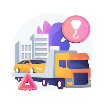 Ilustración de concepto abstracto de asistencia en carretera