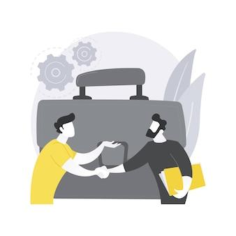 Ilustración de concepto abstracto de asociación.