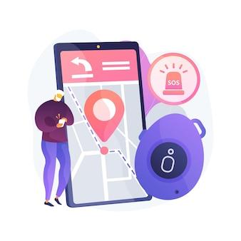 Ilustración de concepto abstracto de botón de emergencia personal