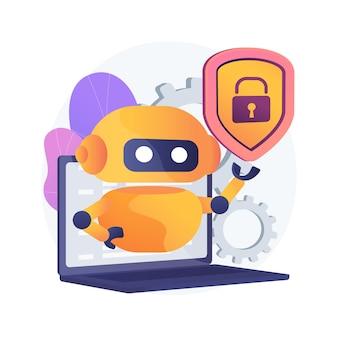 Ilustración de concepto abstracto de ciberseguridad industrial