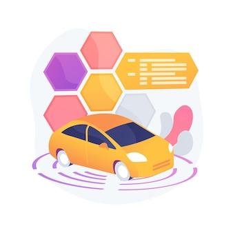 Ilustración de concepto abstracto de coche autónomo