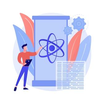Ilustración de concepto abstracto de computación cuántica
