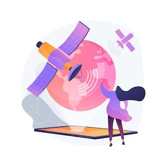 Ilustración de concepto abstracto de conexión web global