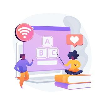 Ilustración de concepto abstracto de contenido digital para niños