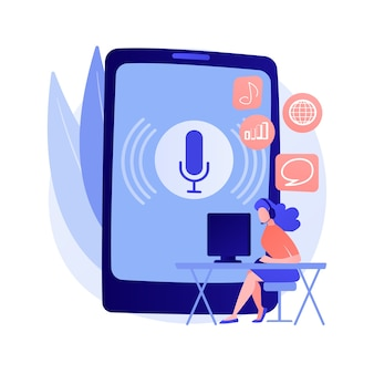 Ilustración de concepto abstracto de contenido de podcast