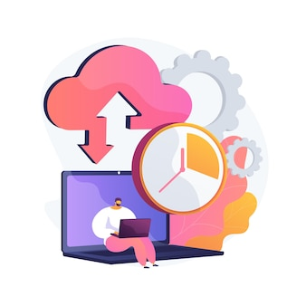 Ilustración de concepto abstracto de copia de seguridad automática