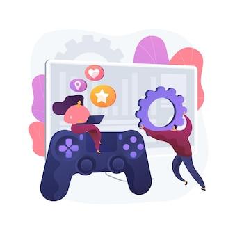 Ilustración de concepto abstracto de desarrollo de juegos de computadora