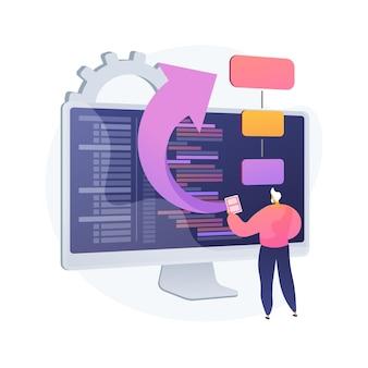 Ilustración de concepto abstracto de descripción de requisitos de software
