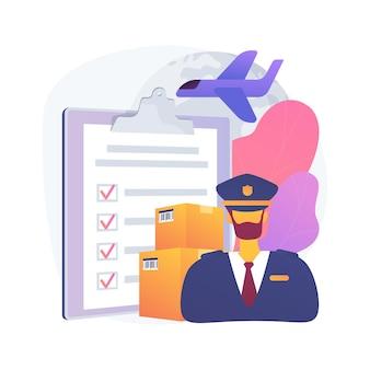Ilustración de concepto abstracto de despacho de aduanas