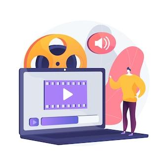 Ilustración de concepto abstracto de diseño de video