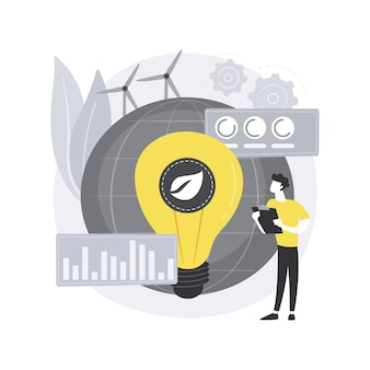 Ilustración de concepto abstracto de economía verde.
