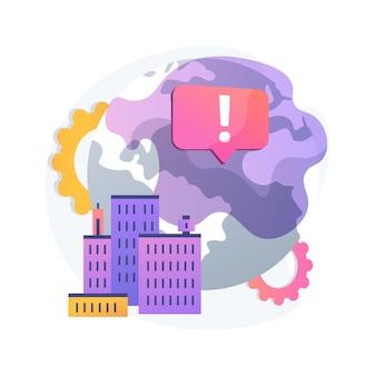 Ilustración de concepto abstracto de emisiones de gases de efecto invernadero. efecto invernadero, emisión de co2, gases tóxicos, problema ecológico, contaminación atmosférica, smog, movimiento ambiental