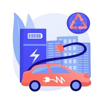 Ilustración de concepto abstracto de estación de carga
