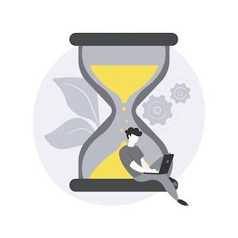 Ilustración del concepto abstracto de fecha límite.