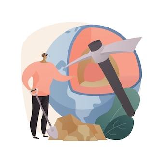 Ilustración de concepto abstracto de geología