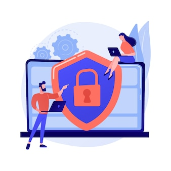 Ilustración de concepto abstracto de gestión de riesgos de seguridad cibernética