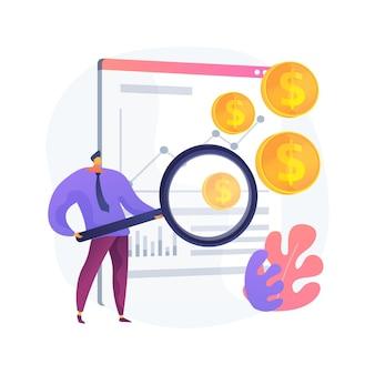 Ilustración de concepto abstracto de índice de ventas