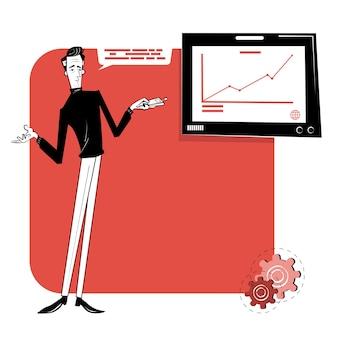 Ilustración de concepto abstracto de inicio de negocios y comunicación. centro de inicio, apoyo financiero, crowdfunding.
