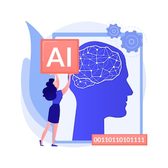 Ilustración de concepto abstracto de inteligencia artificial