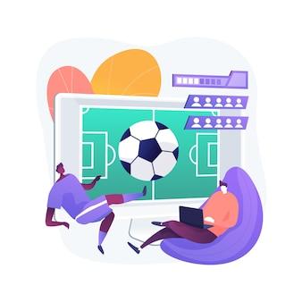 Ilustración de concepto abstracto de juegos deportivos