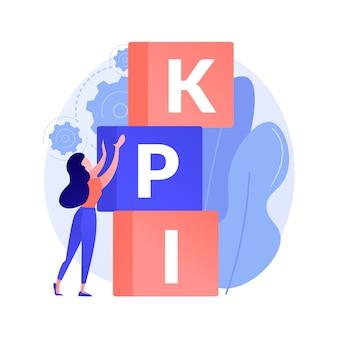 Ilustración de concepto abstracto de kpi