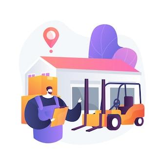 Ilustración de concepto abstracto de logística de almacén