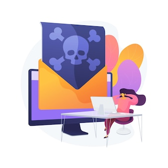 Ilustración de concepto abstracto de malware