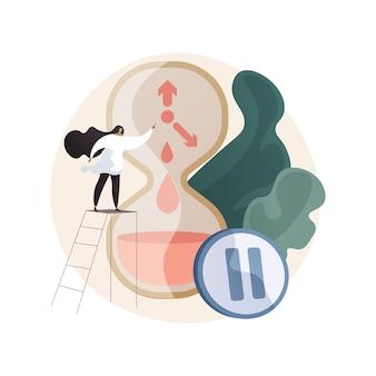 Ilustración del concepto abstracto de la menopausia