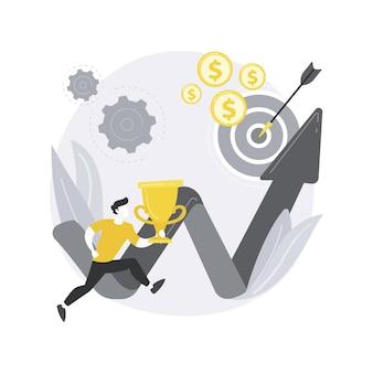 Ilustración de concepto abstracto de misión empresarial.