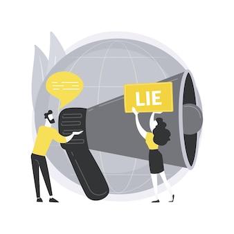 Ilustración del concepto abstracto posterior a la verdad.