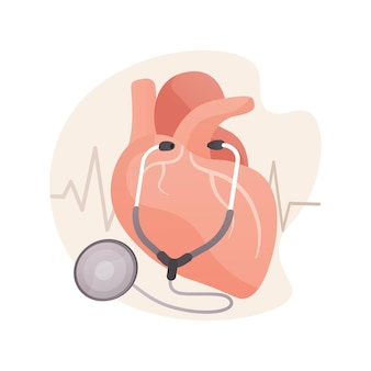 Ilustración de concepto abstracto de presión arterial alta