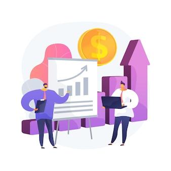 Ilustración de concepto abstracto de previsión de ventas