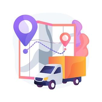 Ilustración de concepto abstracto de punto de entrega