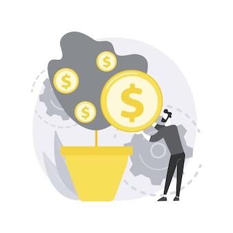 Ilustración del concepto abstracto de recaudación de fondos.
