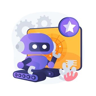 Ilustración de concepto abstracto de robótica militar