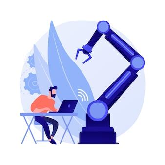 Ilustración de concepto abstracto de robots operados a distancia